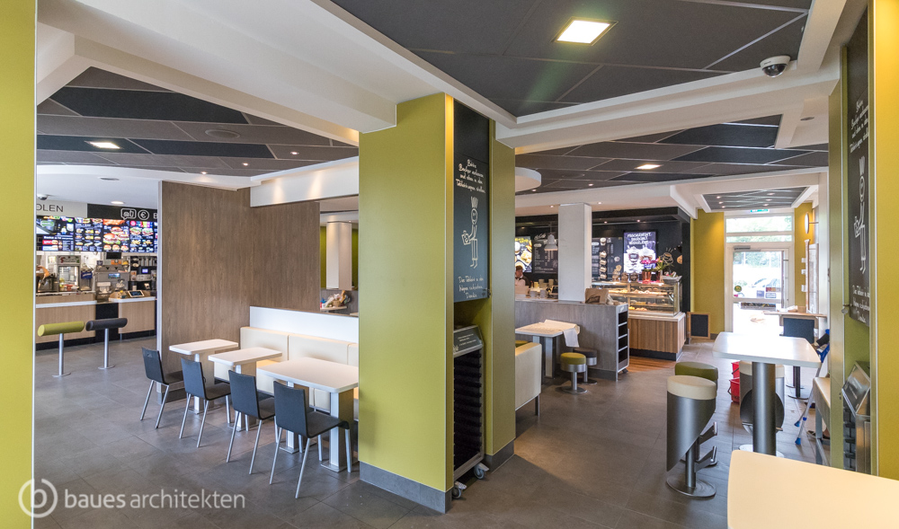 mcdonald s restaurant rdz in d sseldorf baues architekten. Black Bedroom Furniture Sets. Home Design Ideas