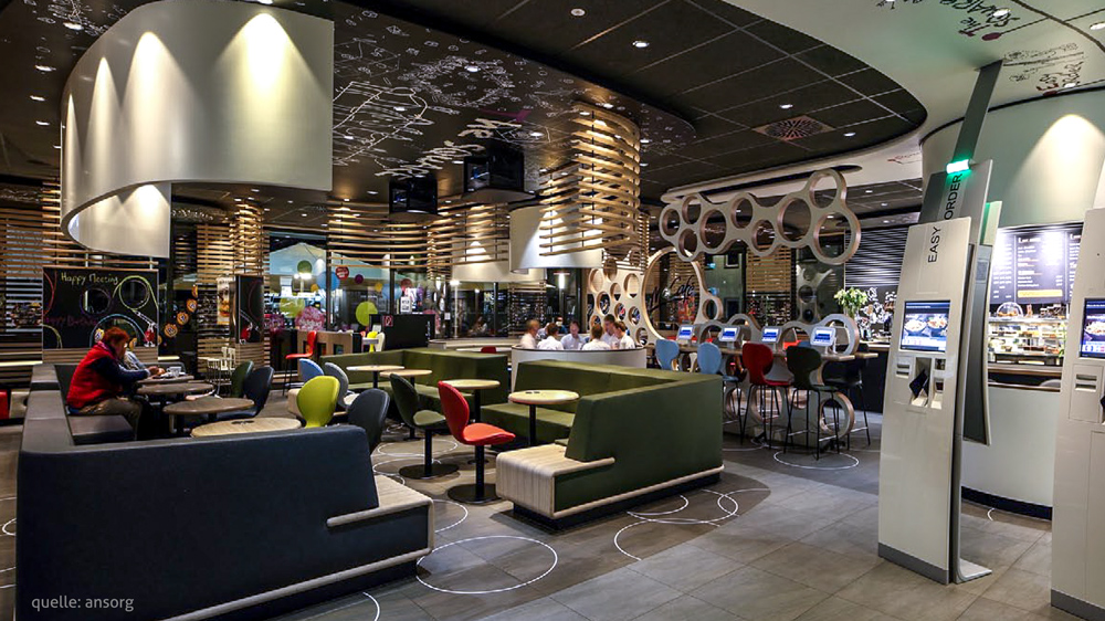 mcdonald s restaurant im flughafen d sseldorf baues architekten. Black Bedroom Furniture Sets. Home Design Ideas