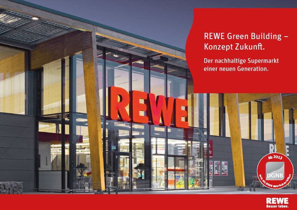 rewe supermarkt in korschenbroich green building baues architekten. Black Bedroom Furniture Sets. Home Design Ideas
